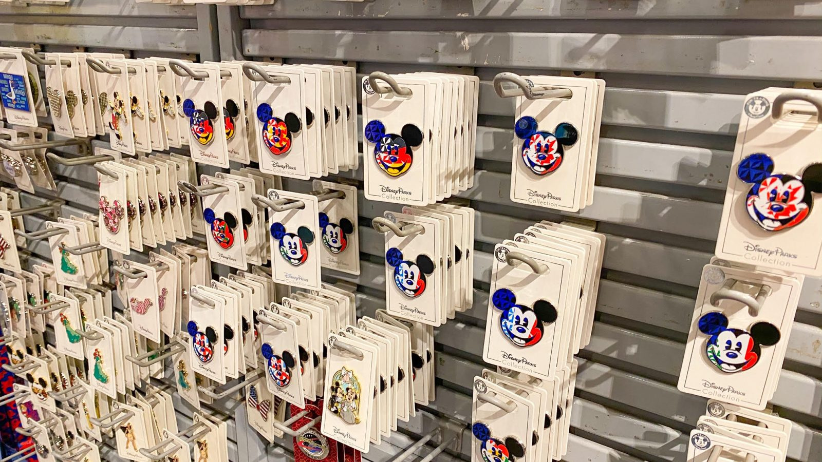 Pins for sale at Disney World