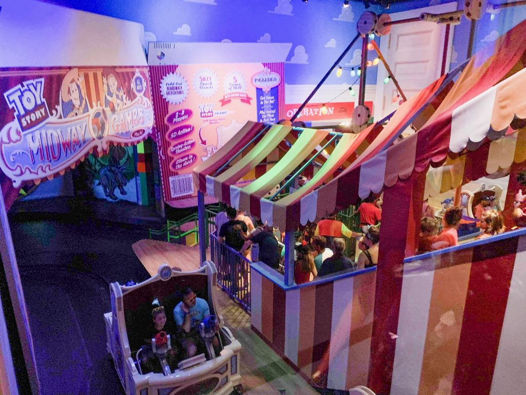 Photo of Toy Story Midway Mania, one of the best Disney World FastPass selections!