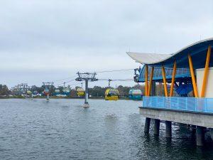 Disney Skyliner over water
