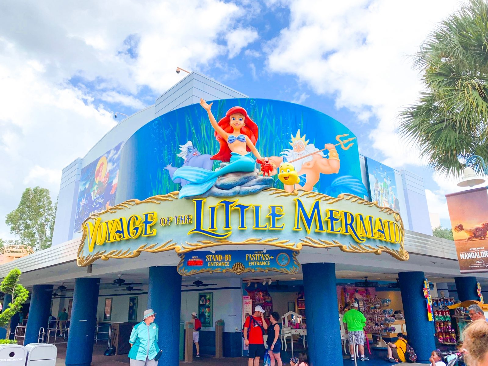 Disney world shows the little mermaid