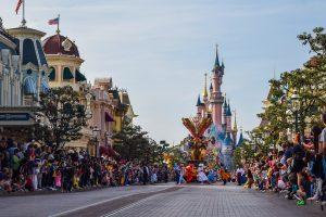 Disneyland Paris Castle during Parade