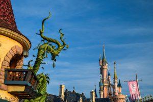 Disneyland Paris Castle with Beanstalk by Shop