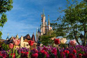 Disneyland Paris Castle with flowers