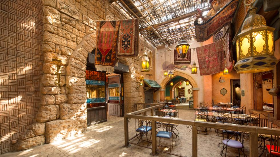 The Arabian style of Agrabah cafe in Disneyland Paris