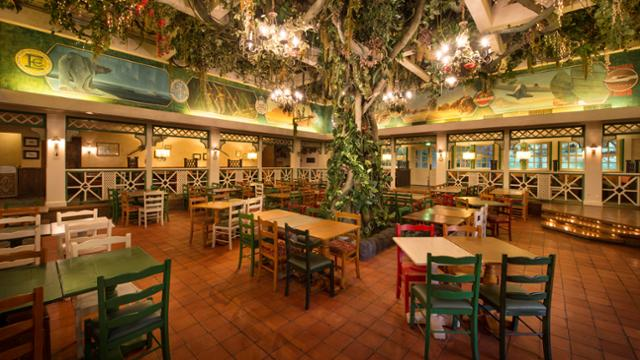 The tree in the centre of Colonel Hathi's at Disneyland Paris