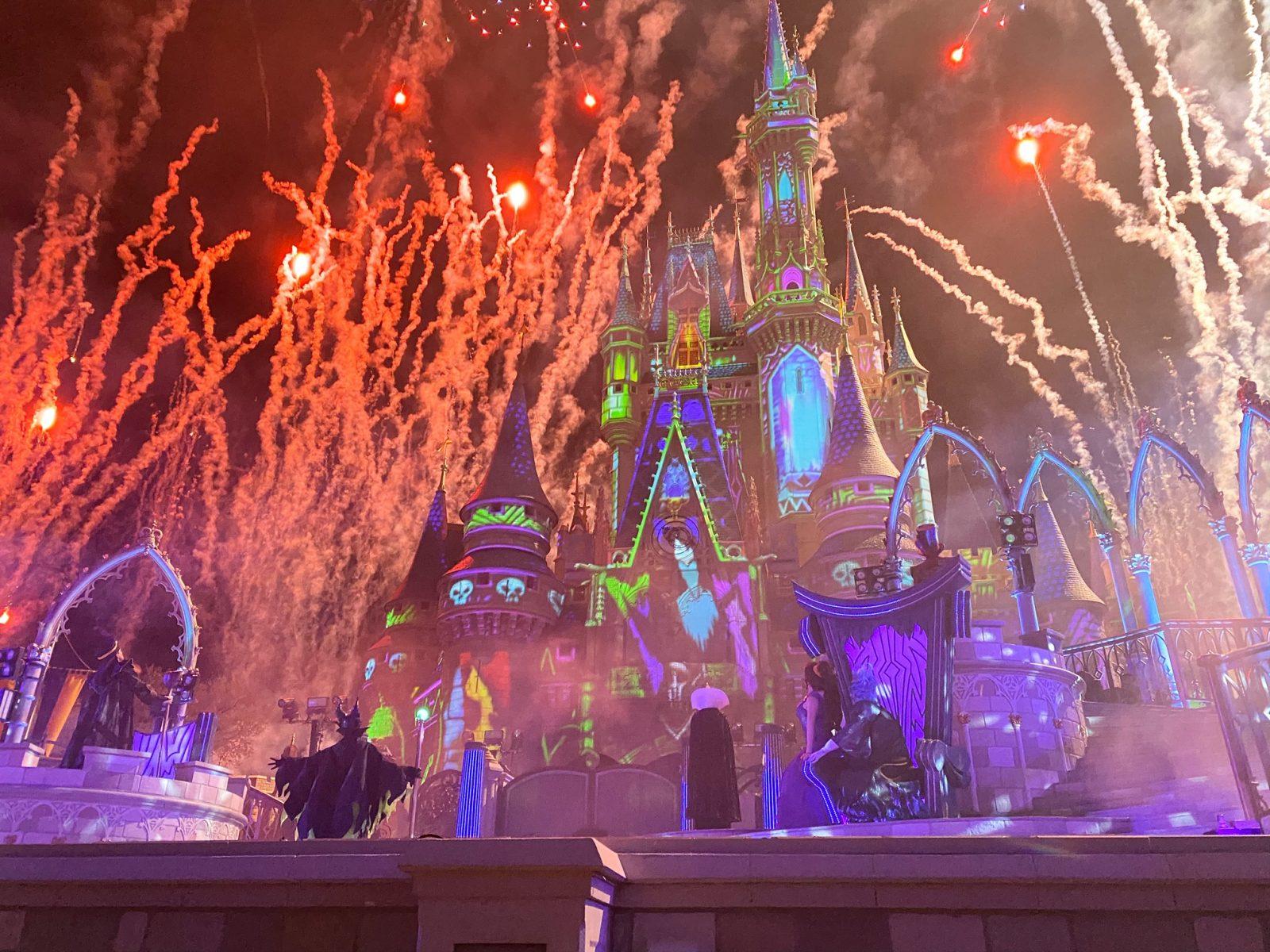 Fireworks at Disney Villains after hours