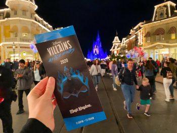 Disney Villains after hours program