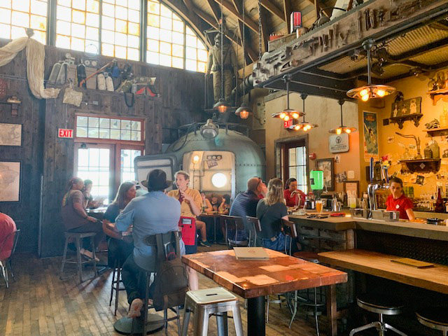 inside of Disney Springs bar jock Lindsey's hangar
