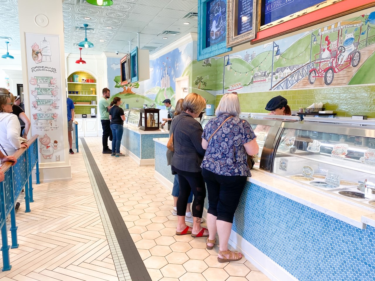 photo of people ordering their food at Disney counter service restaurant